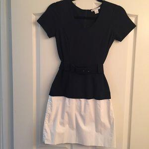 Diane bin Furstenberg navy and white dress!